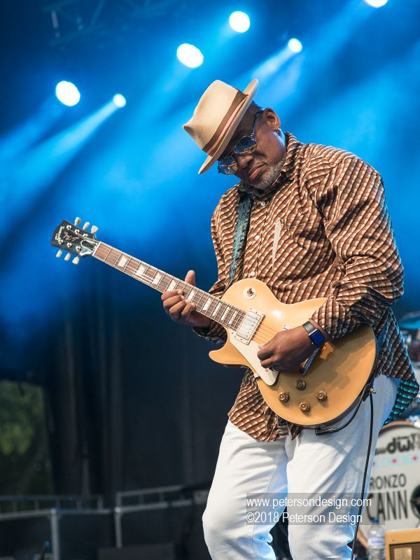 Image of Chicago Blues guitarist performing at Naperville's Rib Fest